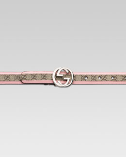 Gucci Adjustable Belt with Double G Buckle
