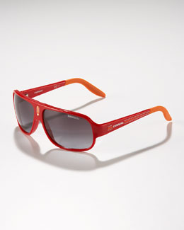 Carrera Children's Mid-Size Classic Carrerino Sunglasses, Red/Orange