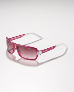 Carrera Children's Small Classic Carrerino Sunglasses, Fuchsia/White
