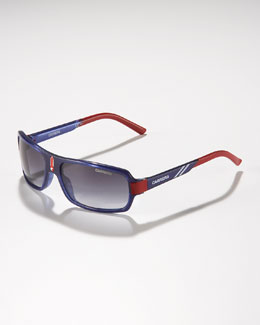 Carrera Children's Small Classic Carrerino Sunglasses, Blue/Red