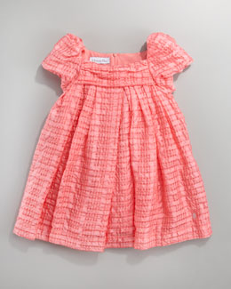 Baby Dior Plisse Organza Dress, Sizes 2-4