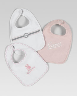 Gucci Three-Bib Set, Pink
