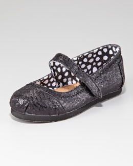 TOMS Glitter Mary Janes, Tiny