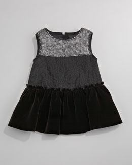 Dolce & Gabbana Herringbone Combo Dress, Sizes 3-24 Months