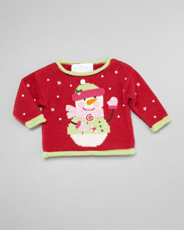 Art Walk Snowman Holiday Sweater
