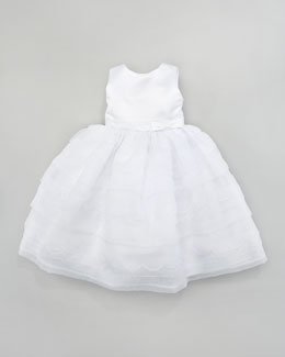 Joan Calabrese Scalloped Tea-Length Dress, 6-24 Months
