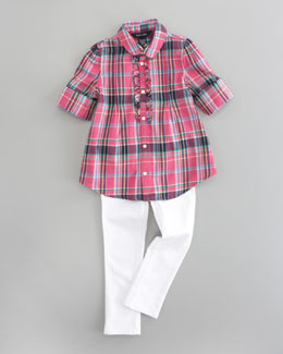 Ralph Lauren Childrenswear Plaid Tunic Top