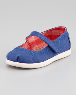 TOMS Canvas Mary Jane Slip-On, Navy, Tiny