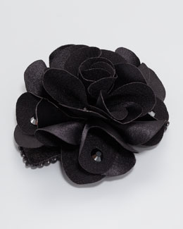 Bari Lynn Feel Good Small Floral Clip, Black