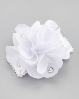 Bari Lynn Feel Good Small Flower Clip, White