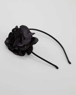 Bari Lynn Feel Good Floral Headband, Black