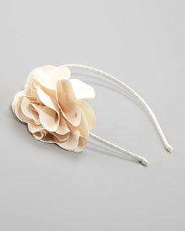 Bari Lynn Feel Good Floral Headband, Ivory