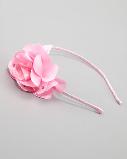Bari Lynn Feel Good Floral Headband, Light Pink