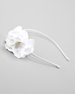 Bari Lynn Feel Good Floral Headband, White