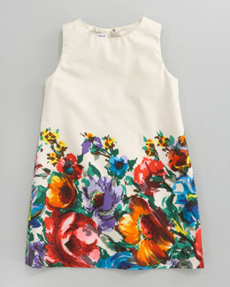 Dolce & Gabbana Fiori Colonnia Poplin Dress, Sizes 8-10
