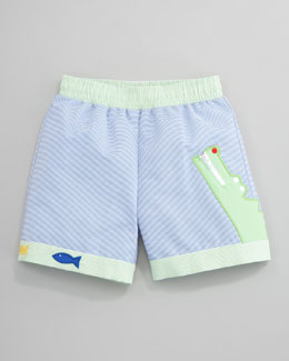 Florence Eiseman Gator Swim Shorts, Sizes 6-9 Months