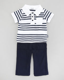 Splendid Littles Capri Striped Polo & Pant Set