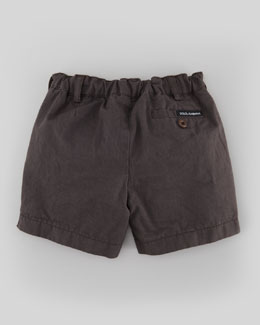 Dolce & Gabbana Lightweight Twill Shorts, Dark Gray