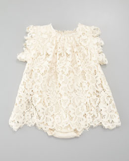 Dolce & Gabbana Lace Dress, Ivory, 3-24 mo.