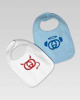 Gucci Angel and Devil Set of 2 Bibs