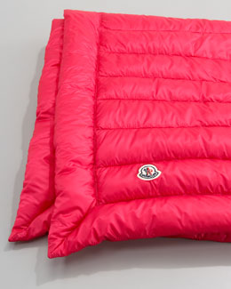 Moncler Packable Quilted Blanket, Fuchsia