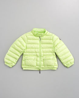 Moncler Lans Long Season Packable Jacket, Sizes 4-6