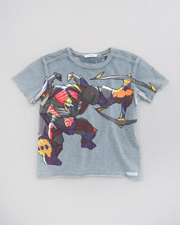 Dolce & Gabbana Warrior Graphic Print Tee, Sizes 4-6