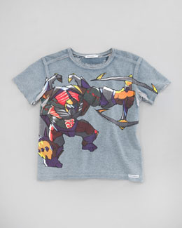 Dolce & Gabbana Warrior Graphic Print Tee, Sizes 8-10