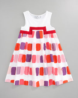Baby Dior Rectangle Blocks Dress, Sizes 5-8