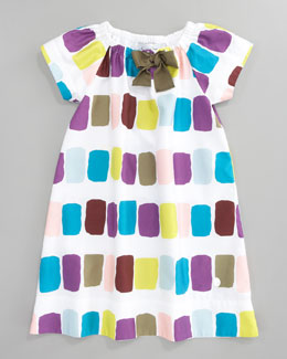 Baby Dior Print Shift Dress, Sizes 5-8