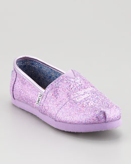 TOMS Lilac Glitter Shoe, Youth