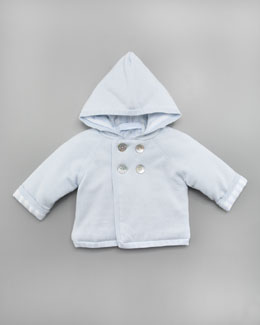 Tartine et Chocolat Tribord Double Hooded Jacket, Light Blue