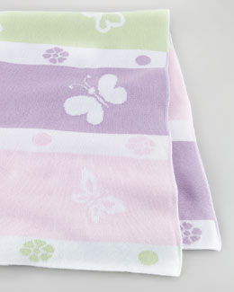 Kissy Kissy Butterfly Knit Blanket