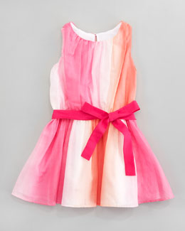 Halabaloo Watercolor Shirred Bodice Dress, Sizes 2T-3T