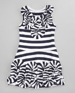 Halabaloo Striped Jersey Dress, Sizes 2T-3T