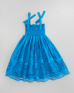 Halabaloo Eyelet Embroidered Smocked Dress, Sizes 2-3T