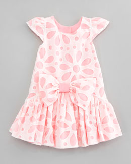 Halabaloo Flower Burnout Lace Dress, Sizes 2T-3T