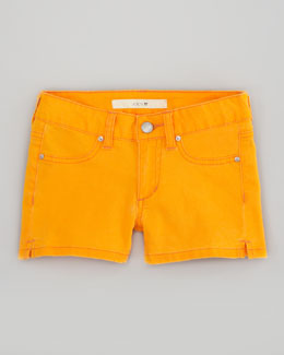 Joe's Jeans Neon Orange Stretch Denim Shorts, Sizes 2-6
