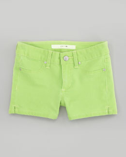 Joe's Jeans Neon Green Glow Stretch Denim Shorts, Sizes 2-6