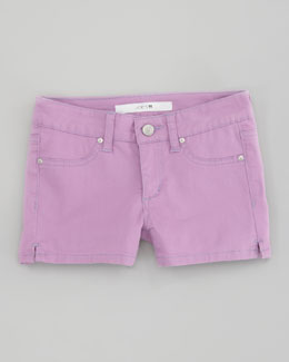 Joe's Jeans Neon Stretch Denim Shorts, Neon Purple