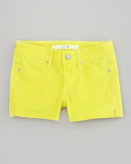 Joe's Jeans Neon Stretch Denim Shorts, Yellow