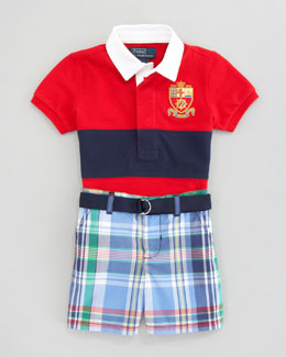 Ralph Lauren Rugby Shirt & Madras Short Set