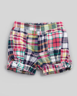 Ralph Lauren Patchwork Madras Shorts, 12-24 mo.
