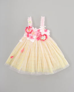 Le Pink Garden Princess Tulle Dress