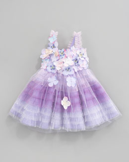 Le Pink Fleur Bleu Tiered Tulle Dress, Sizes 12-24 Months