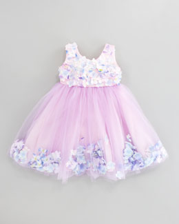 Le Pink Fleur Bleu Tulle Dress, Sizes 2T-3T