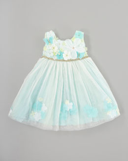Le Pink Mermaid Tulle Dress, Sizes 2-3T