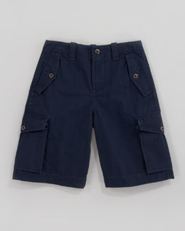 Ralph Lauren Childrenswear Canadian Aviator Navy Cargo Shorts, Sizes 8-10