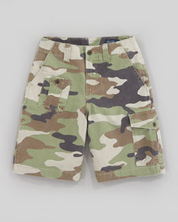 Ralph Lauren Childrenswear Corporal Camouflage Shorts, Sizes 8-10