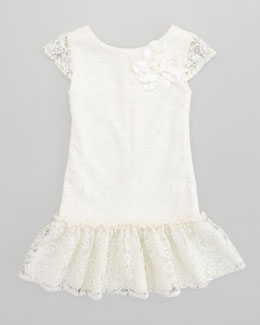 Zoe Crochet All-Over Lace Dress, Sizes 8-10